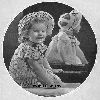 Thumbnail 1939 Flower Girl Dress and Hat Size 3 Crochet Pattern