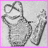 Thumbnail Lace Edged Baby Bib and Bottle Cozy Set Crochet Pattern
