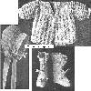 Thumbnail Rambler Rose Baby Sacque Cap  Booties Crochet Pattern
