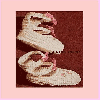 Thumbnail 1954 High Top Twin Strap Baby Booties Crochet Pattern