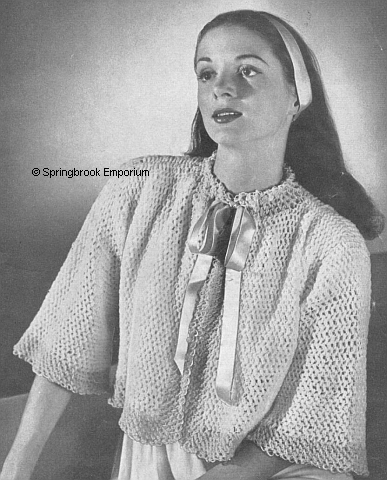 Product picture Comfy Toast N Coffee Bed Jacket Vintage Crochet Pattern